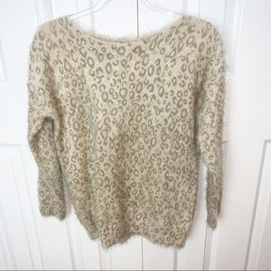 PIPERLIME | S Animal Print Fuzzy Sweater
